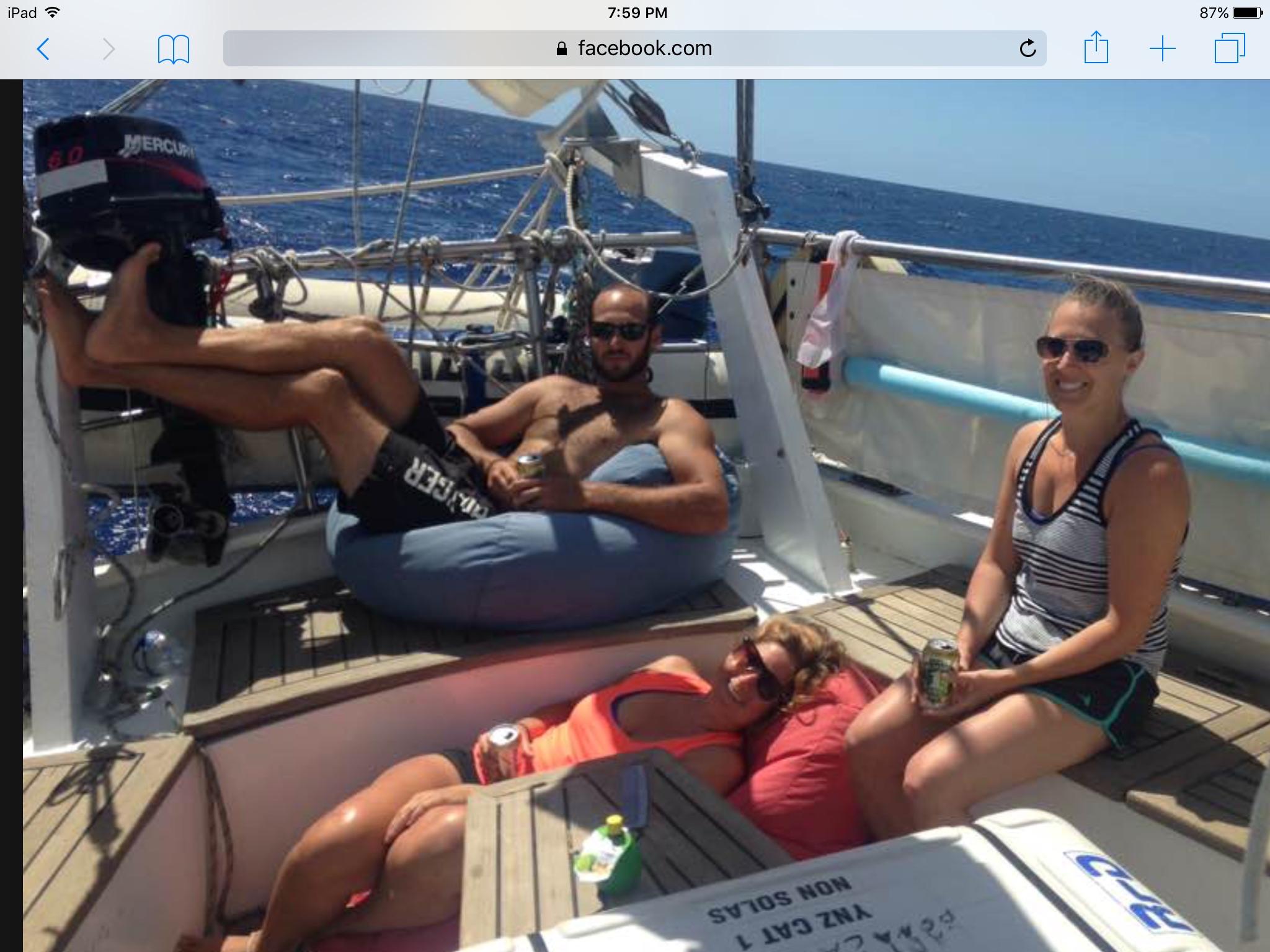 At sea, lazy.....